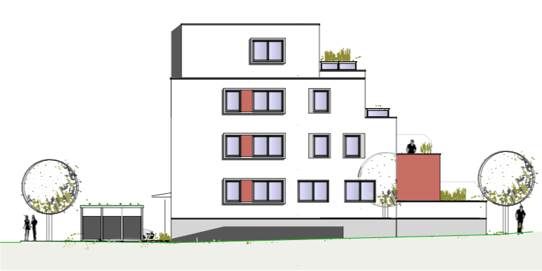 Nordansicht – Birken 16 – Neubauprojekte JT Thamer Immobilien Bayreuth