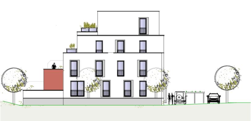 Südansicht – Birken 16 – Neubauprojekte JT Thamer Immobilien Bayreuth
