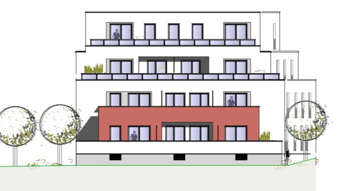 Westansicht – Birken 16 – Neubauprojekte JT Thamer Immobilien Bayreuth