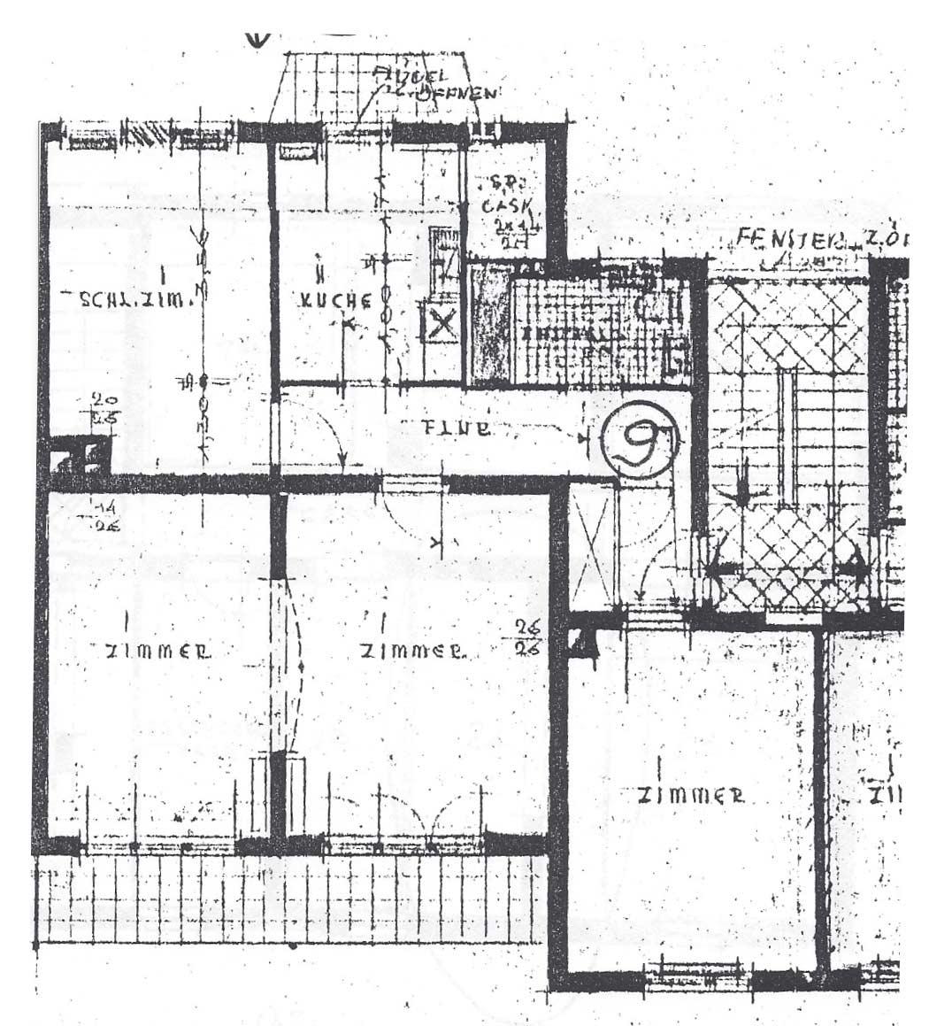 JT - Thamer Immobilien Bayreuth – Grundrissüberarbeitung vorher