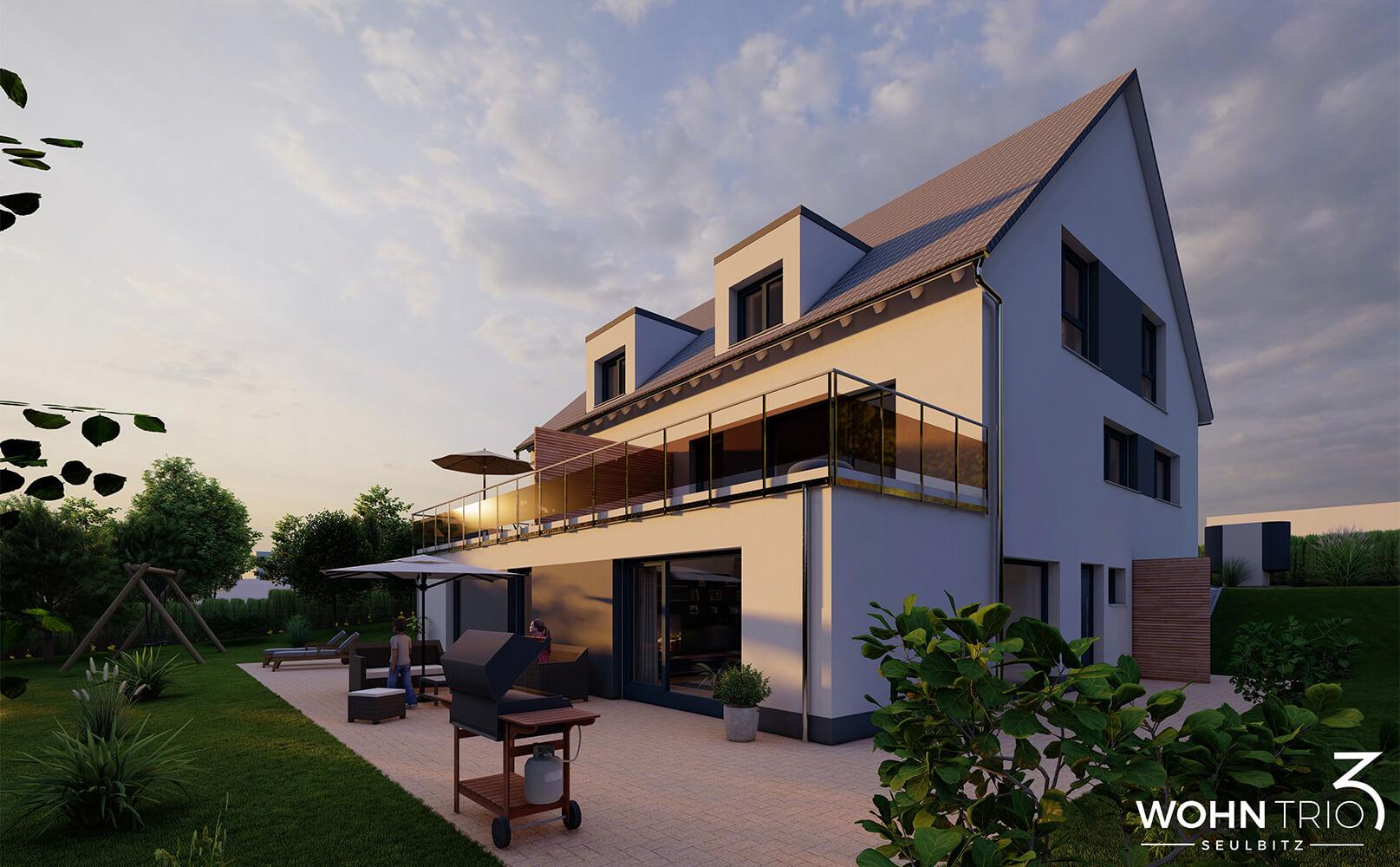 JT Thamer - Neubauprojekt Wohntrio Seulbitz