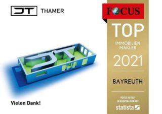 JT - Thamer Immobilien durch Focus als TOP Immobilienmakler 2021 für Bayreuth ausgezeichnet  Auch in diesem Jahr haben wir die Auszeichnung TOP Immobilienmakler von Focus erhalten und freuen uns sehr darüber.  Vielen Dank an Sie/an Euch, liebe Kunden, Geschäftspartner & Freunde für das entgegengebrachte Vertrauen und die gute Zusammenarbeit.  www.jt-thamer.de #MissionImmobilie #focus #neu#bayreuth #TopImmobilienMakler #auszeichnung #top_immobilien_makler #VielenDank #design#bayreutherfestspiele#oberfranken#jt_thamer#jt#ImmobilienStories#erwartensiepersönliches#unibayreuth#immobilie#immobilien#makler#immobilienmakler#bayern#deutschland#neu#immobilienmakler#2021#realestate#realestateagent