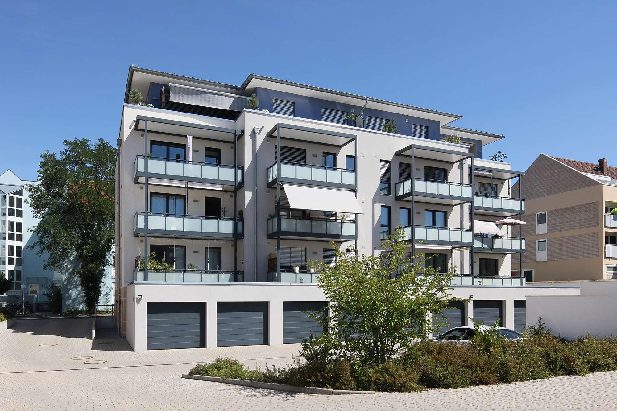 2015er Neubau-3-Zimmer-Wohnung, barrierefrei mit Blick Richtung Hofgarten im Zentrum Bayreuths!